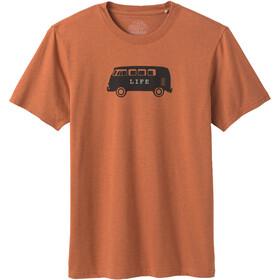 Prana Will Travel Journeyman Camiseta Manga Corta Hombre, naranja